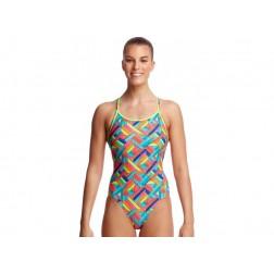 Funkita strój kąpielowy damski Panel Pop Diamond Back
