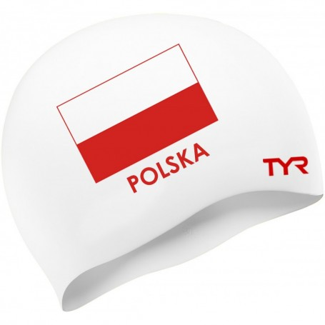 TYR Czepek Polska biały