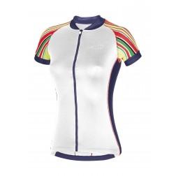 Zero RH+ Koszulka rowerowa damska Paint Jersey white/multicolor/fucsia