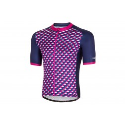 Zero RH+ Koszulka kolarska Passion Jersey DarkBlue/Fucsia