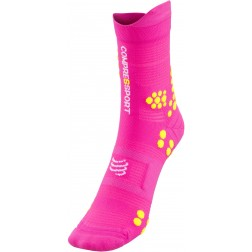 Compressport Skarpetki do biegania Racing Socks Trail V3.0 pink fluo
