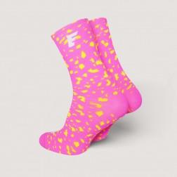 HERO Skarpetki kolarskie Splash Pink Fluo