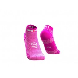 Compressport Skarpetki do biegania krótkie ProRacing Socks v3.0 Pink Melange