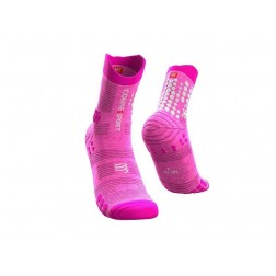 Compressport Skarpetki do biegania Racing Socks TRAIL V3.0 pink melange
