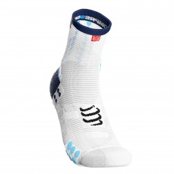 Compressport Skarpetki do biegania długie ProRacing Socks v3.0 White/Blue
