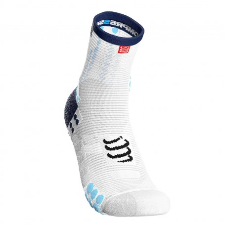 Compressport Skarpetki do biegania długie ProRacing Socks v3.0 White/Blue