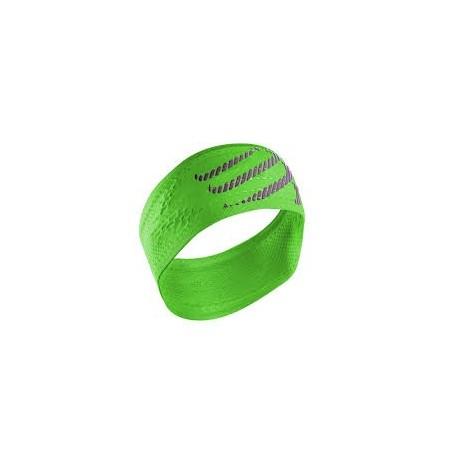 Compressport opaska na głowę On/Off Headband Fluo Green