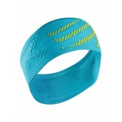 Compressport opaska na głowę On/Off Headband Fluo Blue