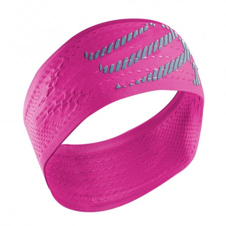 Compressport opaska na głowę On/Off Headband Fluo Pink