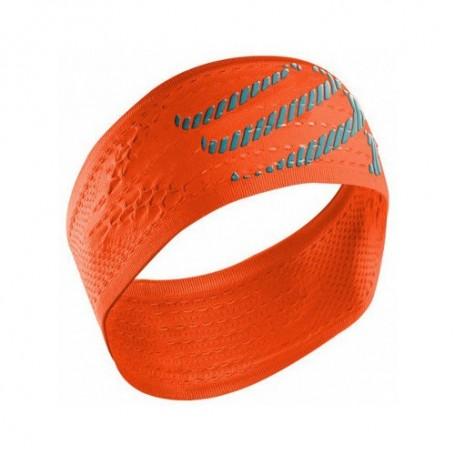 Compressport opaska na głowę On/Off Headband Fluo Orange