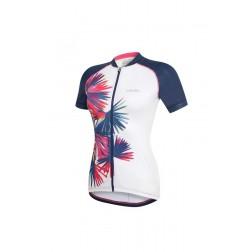 Zero RH+ Koszulka Jersey PRT White Blue Palm Print