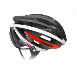 Zero RH+ kask rowerowy ZY MIPS Matt Black / Arrow Shiny White Red