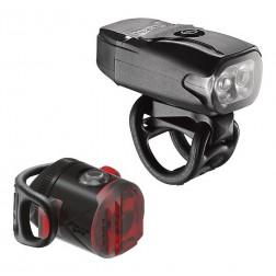Zestaw lampki LEZYNE LED KTV DRIVE USB 200 przód 200 lumenów, FEMTO DRIVE USB tył 5 lumenów, usb czarne (NEW)