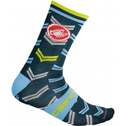 Castelli skarpety kolarskie zimowe Transition 18 light steel blue