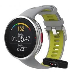 Polar zegarek multisportowy Vantage V2 H10 szaro-limonkowy M/L