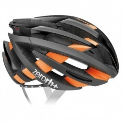 Zero RH+ kask rowerowy ZY Matt Black-Orange Fluo