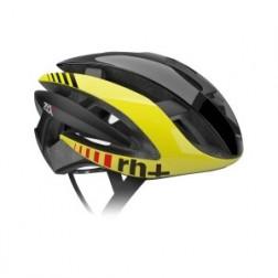 Zero RH+ kask rowerowy Z Alpha Shiny Black-Shiny Yellow Fluo