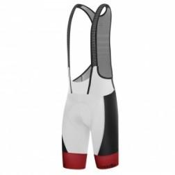 Zero RH+ SpeedCell Bibshorts White-Black-Red - męskie spodenki kolarskie z szelkami