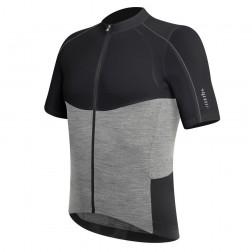 Zero RH+ koszulka kolarska Wool AirX Jersey black-melange grey