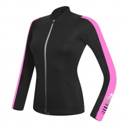 Zero RH+ Spirit Long Sleeve Jersey FZ black-deep pink W