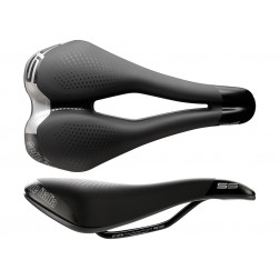 Siodło SELLE ITALIA SPORT S 5 SUPERFLOW L (id match - L3) Fec Alloy 7, soft-tek, żelowe czarne (NEW)