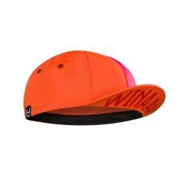 Winaar czapka kolarska CAP ORANGE-fuchsia