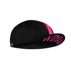 Winaar czapka kolarska CAP BLACK-fuchsia