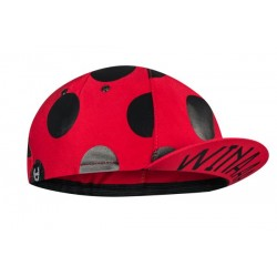 Winaar czapka kolarska CAP RED superdot