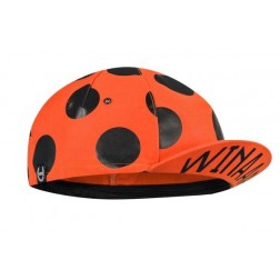 Winaar czapka kolarska CAP ORANGE superdot