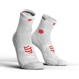 Compressport Skarpetki do biegania długie ProRacing Socks v3.0 white