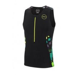 Koszulka triathlonowa ZONE3 Activate+ Zinc Burst - męska