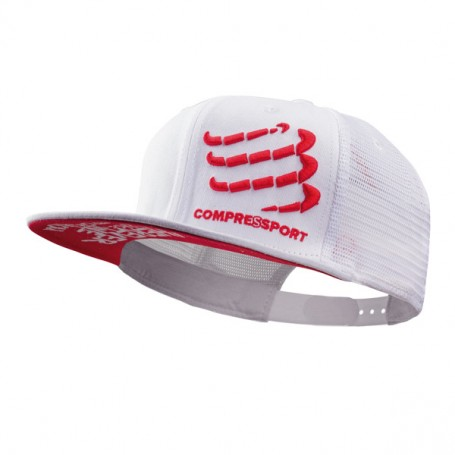 Compressport czapka trucker biała
