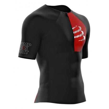 Compressport koszulka triathlonowa męska Postural Aero SS Top czarna