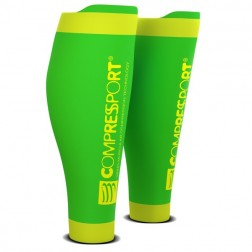Compressport opaski na łydki fluo green