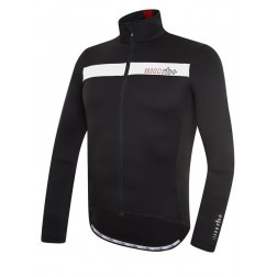 Zero RH+ bluza kolarska Logo Thermo Jersey black white red