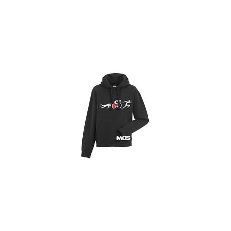 MOS bluza z kapturem Triathlon SBR czarna