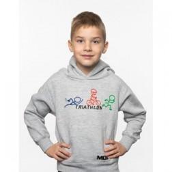 MOS bluza dziecięca Rowerek szara