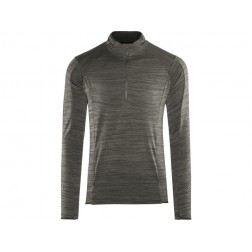 Craft bluza męska Grid Halfzip black melange